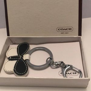 Coach butterfly pave fob key ring
